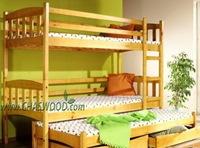 кровать двухъярусная Трио +